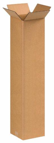 """Aviditi 8836 Tall Corrugated Box, 8"""" Length x 8"""" Width x 36"""""""
