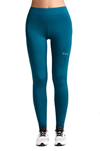 Aimo Sport Workout Leggings-Running Leggings-High Waisted Leggings-Pocket Tights Turquoise from Aimo Sport