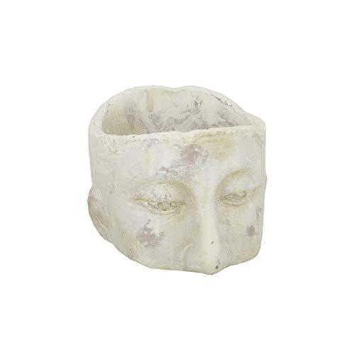 Cotta Terra Head - Three Hands 32174 - Head Planter - Small - White