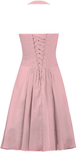 Blush Dress Short Halter Bridesmaid Women's Dress Chiffon ANTS Homecoming nx184qw6n0
