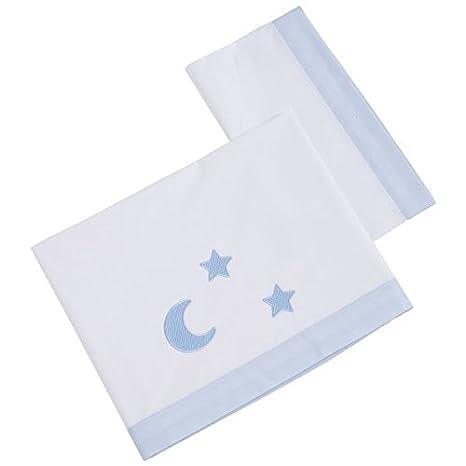 Tríptico sábanas algodón minicuna (50x80 cm) VENUS azul: Amazon.es ...