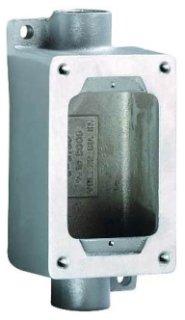 Killark SWB-5 Device Box, 3/4'' Feed-Thru Hub, 1 Gang, Copper-Free Aluminum, 5-7/8'' x 3'' x 2-1/4''