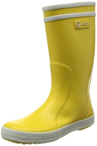 Aigle Lolly Pop Yellow Rubber Infant Wellingtons Boots