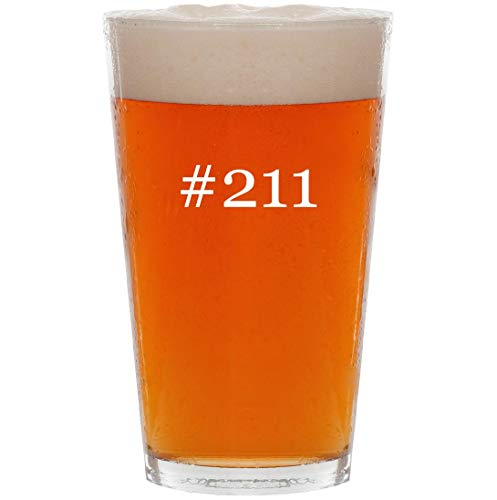 #211-16oz Hashtag All Purpose Pint Beer Glass