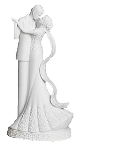 To Have and To Hold Wedding Couple Bride and Groom Porcelain Cake Topper