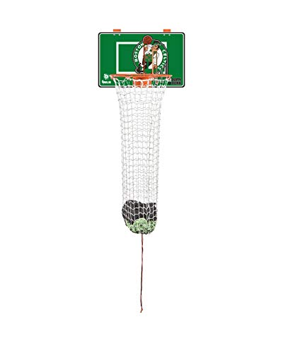 The Dunk Collection Dirty Dunk Over-The-Door Basketball Hoop Laundry Hamper, Boston Celtics, NBA