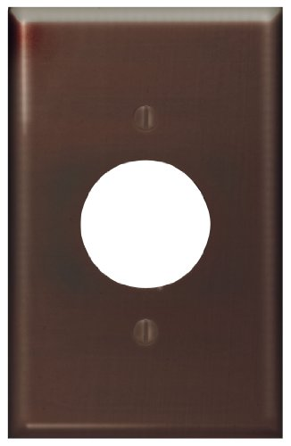 Single Plate Wall Outlet (Leviton 80504 1-Gang Single 1.406-Inch Hole Device Receptacle Wallplate, Midway Size, Brown)