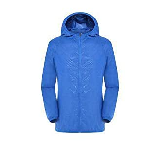 BEESCLOVER Women Men Summer Sun Outdoor Camping Jacket Women Solid Quick Dry Hooded Ultralight Fishing Coat 1 XS