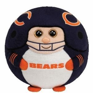 "Ty Beanie Ballz 13"" Chicago Bears Plush"