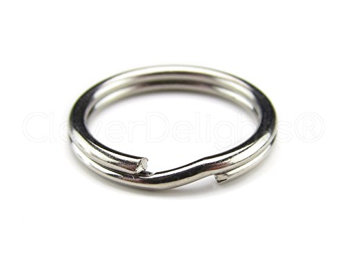 Small Split Ring (100 Pack - CleverDelights 9/16