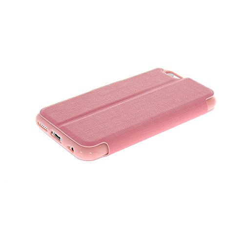 MOONCASE Slim Side Flip Leather Stand Back TPU Case Cover For Apple iPhone 6 ( 4.7 inch ) Pink