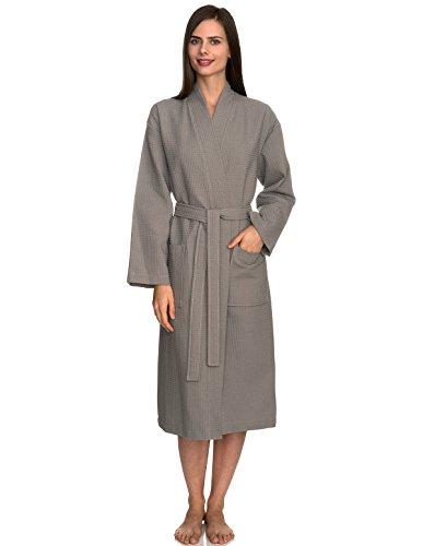 TowelSelections Womens Kimono Waffle Bathrobe