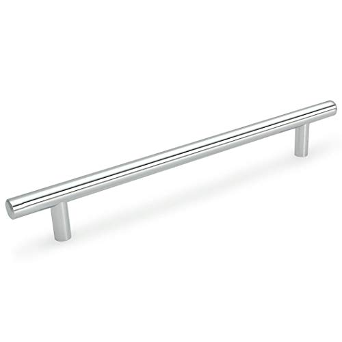 - 10 Pack - Cosmas 305-320CH Polished Chrome Euro Style Cabinet Hardware Bar Handle Pull - 12-5/8