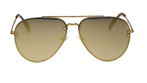 - Celine Unisex Sunglasses CL41391 J5G/MV Gold/Bronze Lens Aviator 60mm Authentic