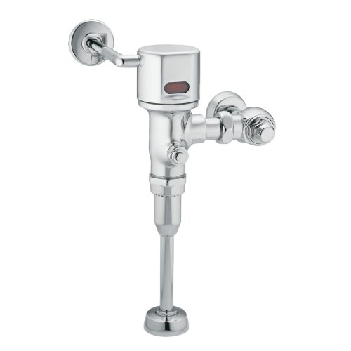 Moen 8316AC Commercial M-Power Electronic AC Powered Sensor Operated Urinal Flush Valve.125 gpf, ()