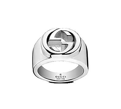 1d0c6c73f9 Anello Gucci Silver Britt YBC356248001: Amazon.it: Gioielli