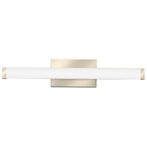 Lithonia Lighting Contemporary Square 3K LED Vanity Light, 2-Foot, Brushed - Lights Lithonia Vanity