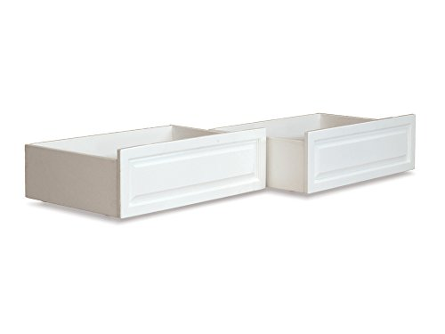 Atlantic Furniture Raised Panel Bed Drawers, Twin/Full, White