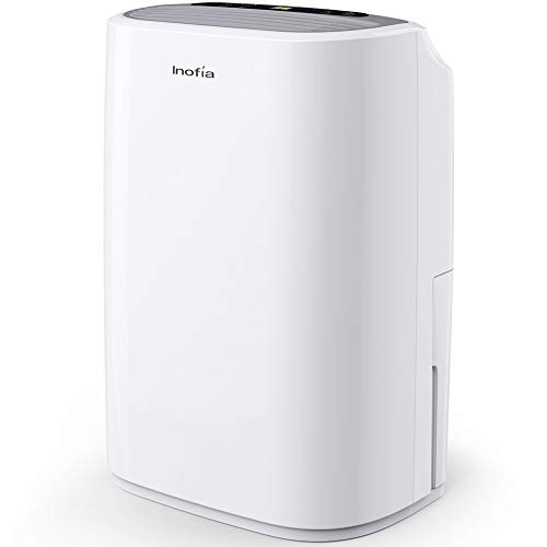 Inofia 30 Pints Dehumidifier Mid-Size Portable For Basements and Large Rooms, Intelligent Humidity...