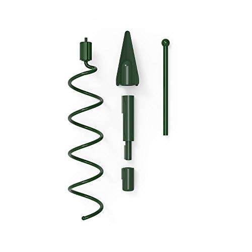 VILLAGE LIGHTING COMPANY Christmas Twist-On Holiday Universal Tree Topper Holder - Metal Green Support Rod with Adjustable attachments to stabilize Seasonal Tree Topper ()