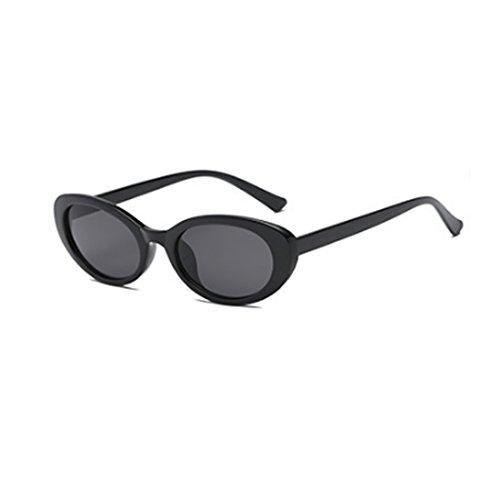 hombres de oval gafas mujeres Fashion retro gafas y de Cenizas Fuyingda sol de Negro moda sol E4gwW