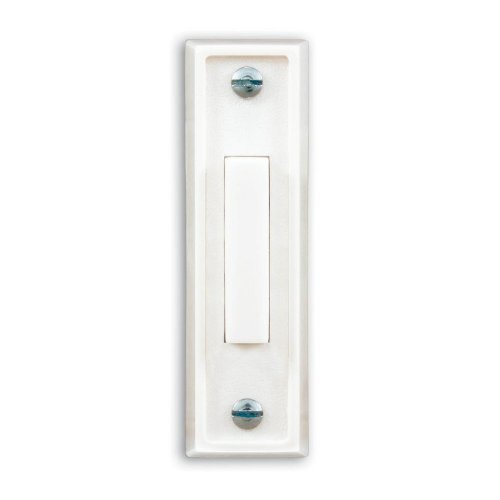 Heath Zenith 670-A Wired Push Button, White Finish with White Center Button by Heath/Zenith (Image #1)