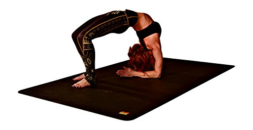 Pogamat Large Exercise Mat 78'' x 48'' x 1/4'' Thick (6.5' x 4') Anti-Tear Workout Mat And Yoga Mats. Perfect For All Types Of Exercises. Does Not ''Bunch Up'' While Working Out. Used WITH Or Without SHOES by Pogamat (Image #5)