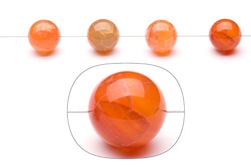 Fire Red agate 16mm round beads ()