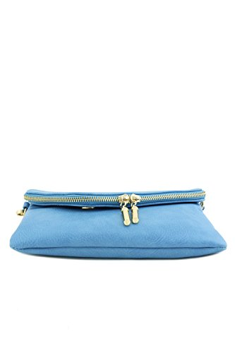 Blue Crossbody Bag with Strap Chain Clutch Wristlet Envelope Uwqa8Zv4