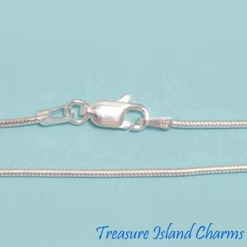 16' Round Snake - 16'' 1.2mm Round Snake .925 Solid Sterling Silver Neck Chain Necklace