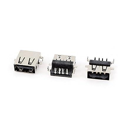 Amazon.com: eDealMax 3PCS montaje en PCB USB DE 4 Pines de ángulo Recto femenino del zócalo de gato Puerto: Electronics