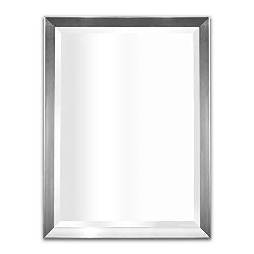 Wall Mirror for Living Room, Bedroom, Vanity, Bathroom (Silver ()