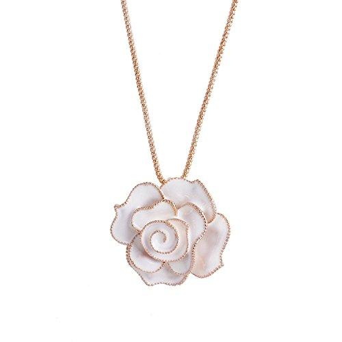 Lureme Enamel Pendant Necklace 01001256