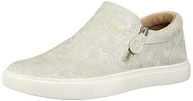 Gentle Souls Womens Lowe Double Zip Sneaker Off-White Size: 5.5 US / 5.5 AU