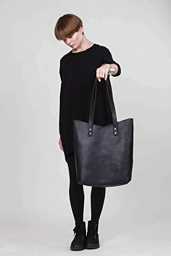 Leather Tote Bag, Leather Tote, Leather Black Tote, Tote Bag, Tote, Shoulder Tote, Leather Womens Bag, Leather Handbag, Shopper Bag, Leather Bag, Bag For Women, Black Tote, Black Leather Handbag, Tote