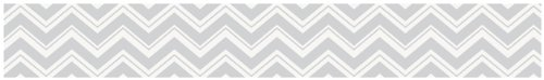 Baby and Kids Modern Wall Border for Black and Gray Chevron Zig Zag Bedding Collection by Sweet Jojo Designs