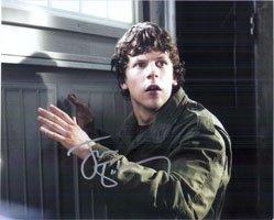 Eisenberg Signed (Signed Eisenberg, Jesse 8x10 Photo autographed)
