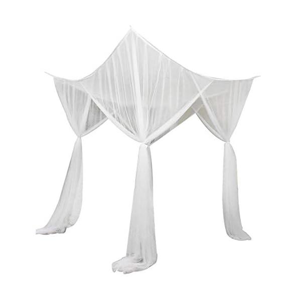 LinZX Mosquito Net Letto a baldacchino Corner 4 Telo Doppio Four Corner Room Decorazione appesa Mantovana,20.44 3 spesavip