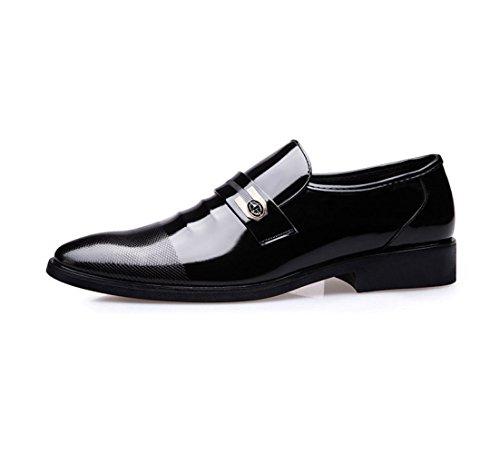 Chaussures Habillées pour Hommes Chaussures en Cuir Chaussures De Mode Décontractées à Enfiler Black 2d4gE2qI