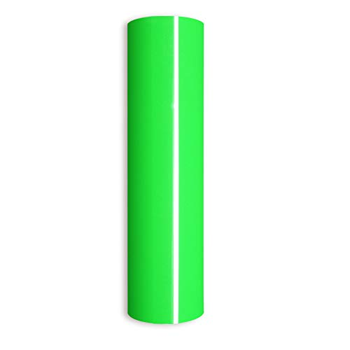 Neon Green Heat Transfer Vinyl,PU Neon Green Iron on Vinyl Roll HTV for DIY T-Shirts 、Idea Fabrics 0.8x5ft
