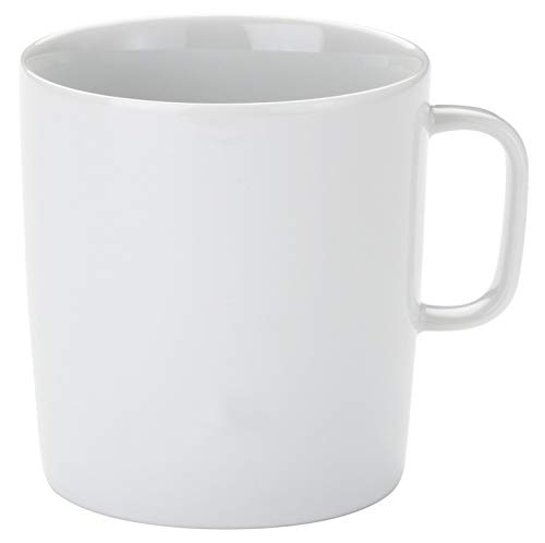 A di Alessi 3-1/4-Inch Platebowlcup Mug, White Porcelain, Set of 4