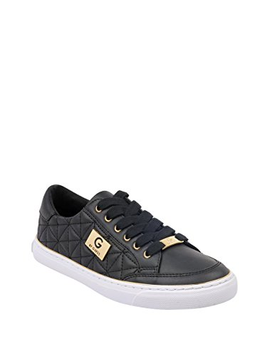 Leather Logo Plaque - G by GUESS Women's Omerica Quilted Faux-Leather Logo Plaque Sneakers Black