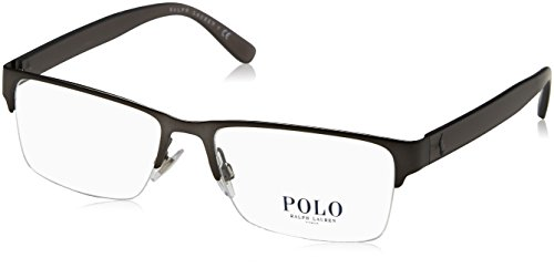 Polo PH1164 Eyeglass Frames 9157-56 - 56mm Lens Diameter Matte Dark Gunmetal - Frames Eyeglass Polo