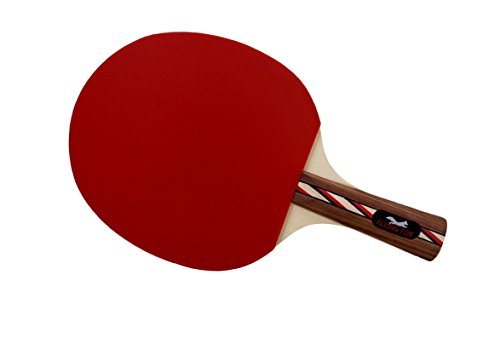Table Tennis & Ping Pong Paddles Set with Carry Case - Professional Quality Racket with Flared Wood Handle for Novice to Semi-Pro by Flying Fox Paddles by Flying Fox (Image #1)