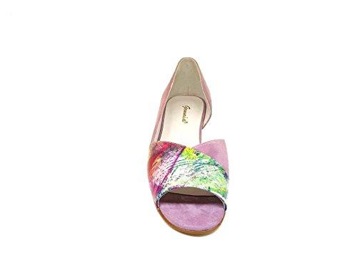 Zeppa Multicolore In Donna Camoscio Per Vernice pelle E Cm Sandali Punta 3 Capri Lebil Aperta Con Gennia Nati Pelle qUS0xFR