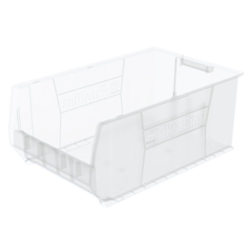 Akro-Mils 30290 29-Inch D by 18-Inch W by 12-Inch H Clear Super Size Plastic Stacking Storage AkroBin by Akro-Mils
