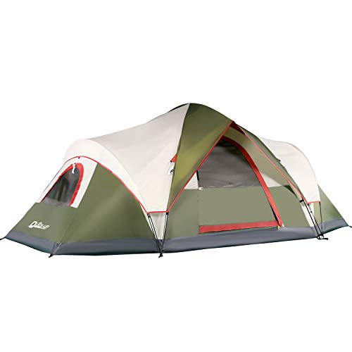 6 Person Tents for Family Camping, Quick Easy Set Up, Instant Pop Up Dome Outdoor Tent, Waterproof with Rainfly and Mesh Roofs & Door & Windows - 13.5