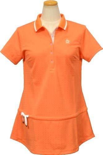 [マンシングウェア] 半袖シャツ (チュニックドット) レディース ゴルフウェア jwlj215 L寸 オレンジ(A548) B07R1HBSZF