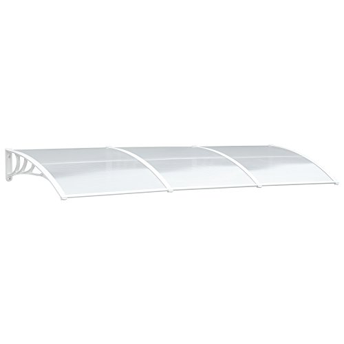 MCombo 38 inch x 116 inch Window Awning Outdoor Polycarbonate Door Shade Patio Cover Canopy, 605 ...