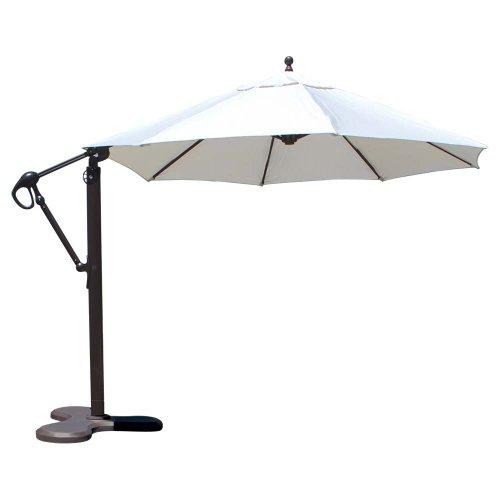 Galtech International Cantilever with Umbrella, 11-Feet, Antique Beige/Bronze from Galtech International